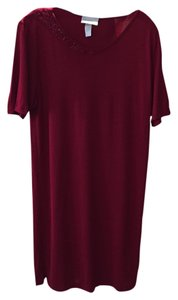 La Perla La perla 2 piece set bathink suite and dress sz 48 burgandy