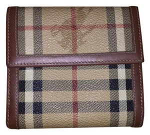 Burberry checked wallet