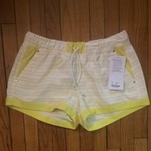 Lululemon Shorts Yellow White