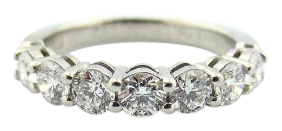be48dd852b Tiffany & Co. Platinum Shared Setting .91ct Diamond 3.5mm Band + Papers Ring