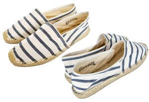 Soludos White and Navy Flats