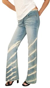Iceberg Icejeans Swarovski Crystals Long Size 6-8 Tall Tall Flare Leg Jeans-Light Wash