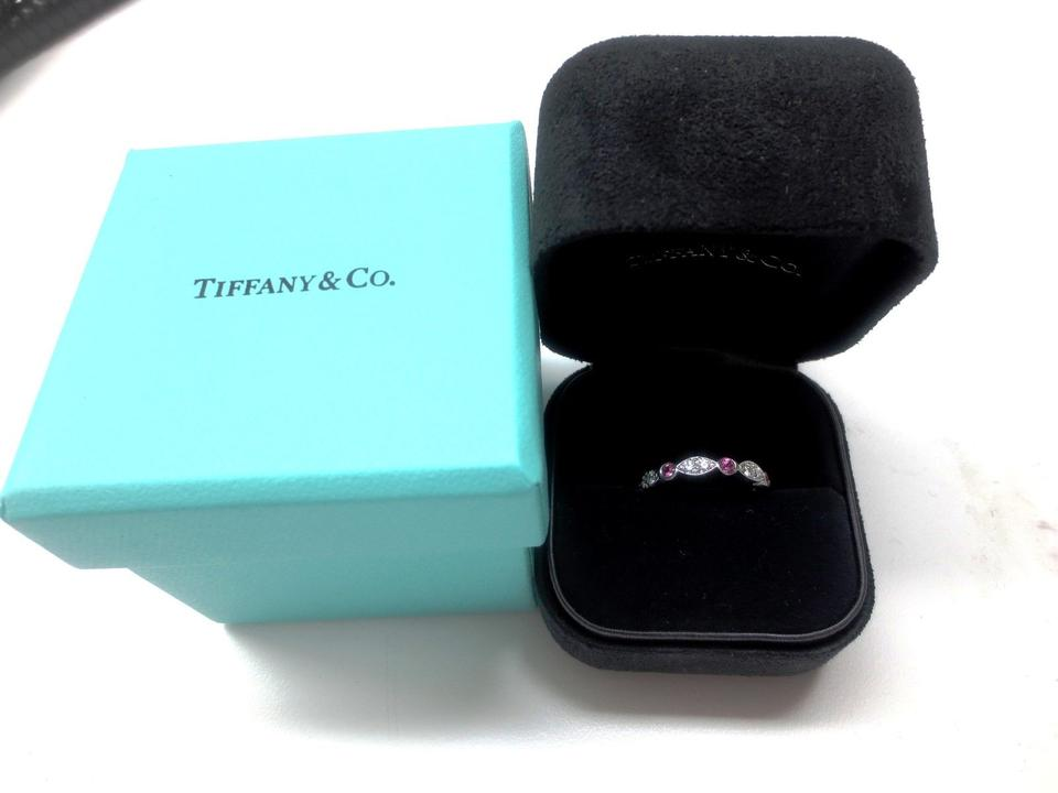 c2d36c672 Tiffany & Co. Platinum Swing Jazz Ring Band with Pink Sapphires. 1234