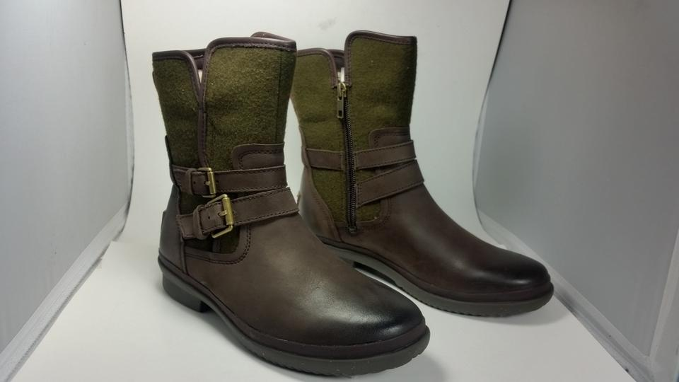 723d4319cee UGG Australia Stout/ Green New Simmens Waterproof Buckle Ankle Stout/  Boots/Booties Size US 6.5 Regular (M, B) 49% off retail