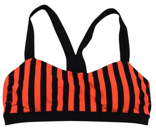 Item - Orange and Navy Activewear Sports Bra Size 8 (M)