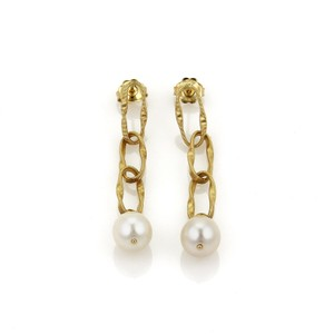 Marco Bicego 20875 - Marco Bicego Pearls 18k Gold Large Oval Link Dangle Earrings