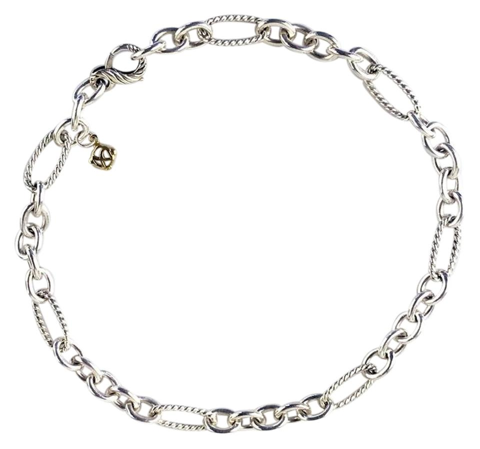 David Yurman Sterling Silver Classic Cable Wire Oval Chain Link ...