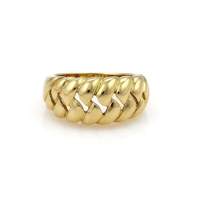 Item - Yellow Gold 18kt Open Fancy Design Semi Dome Ring