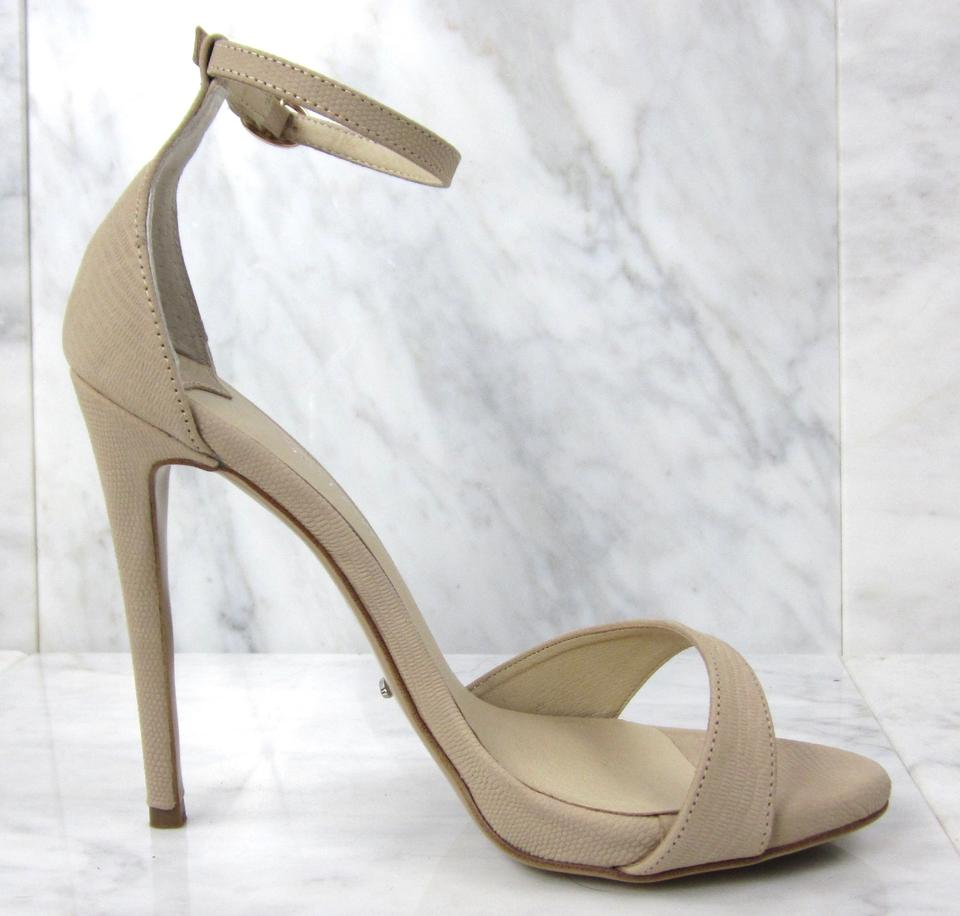 9947264dcdea Tony Bianco Ankle Strap Embossed Monochrome Neutrals Nude Sandals Image 11.  123456789101112