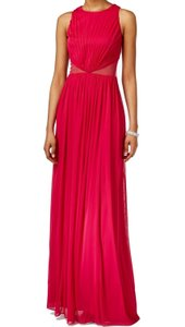 Adrianna Papell Mesh Ruched Halter Dress
