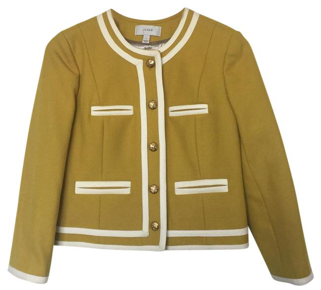 Item - Yellow Lady In Double Serge Wool Jacket Size Petite 4 (S)