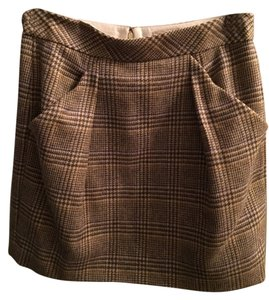 J.Crew Wool Houndstooth Mini Skirt Multi