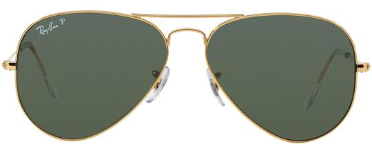 0e8f5abbc2d Ray-Ban Gold   Smoke New (Rb3025) Polarized Aviator Made In Italy ...