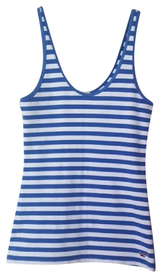 df037a435 Hollister Blue White Striped Tank Top Cami Size 4 (S) - Tradesy