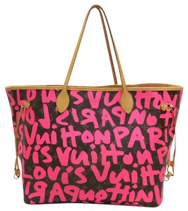 Louis Vuitton Lv Graffiti Neverfull Canvas Gm Shoulder Bag