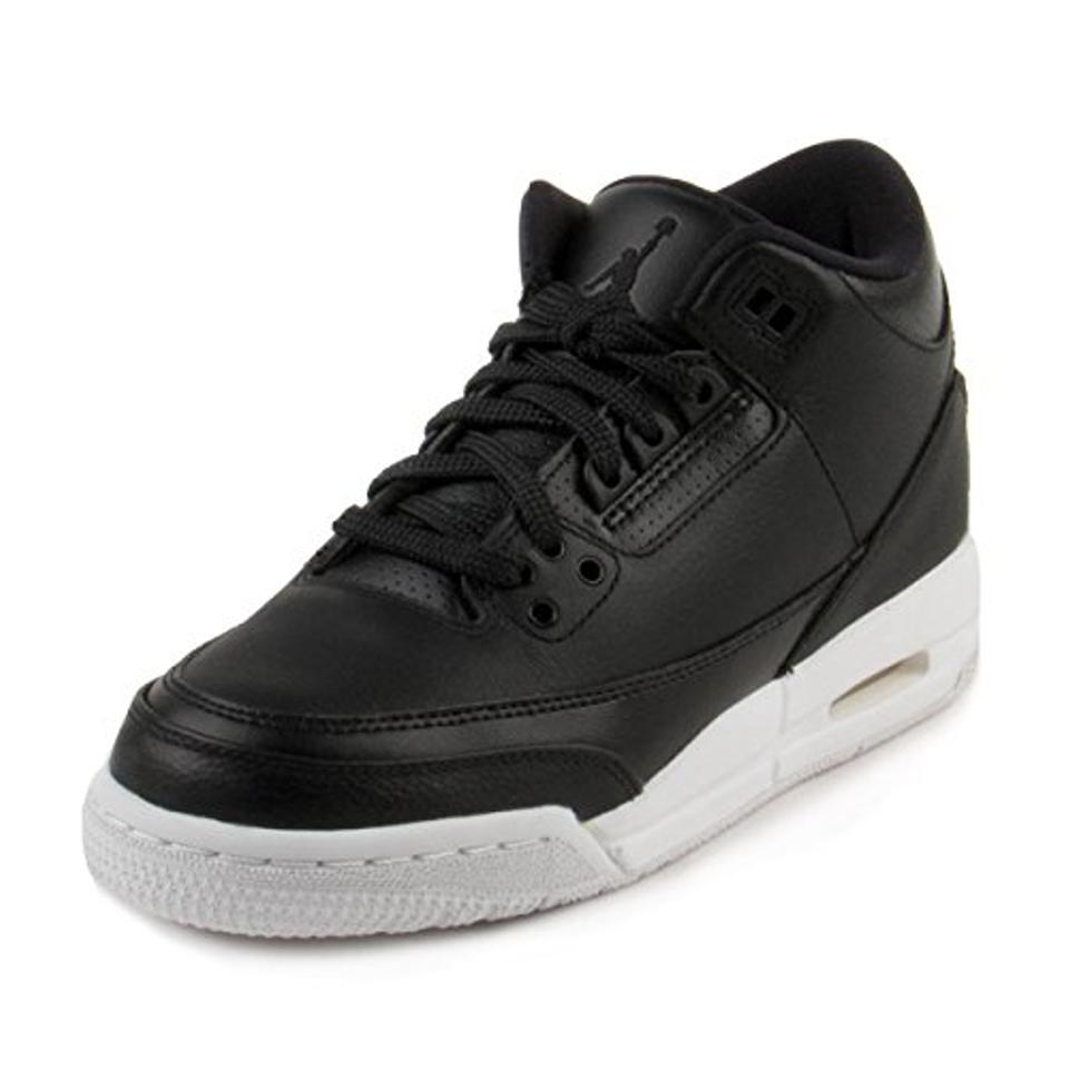 00929fb3d5c Air Jordan Retro 3 To School Sale Basketball Gift For Kids Black Athletic  Image 0 ...
