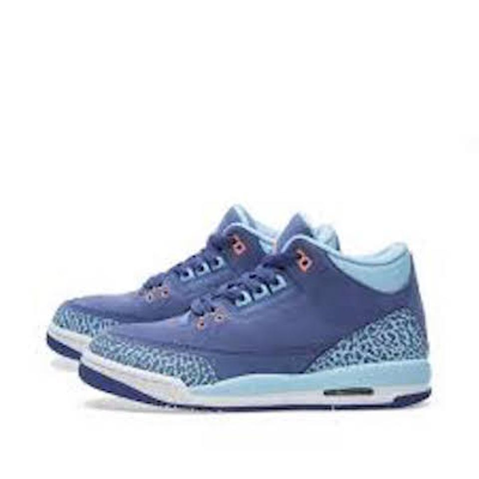 Air Jordan Retro 3 Back To School Sale Basketball Gift For Kids Dark Purple  Dust  ... 350516740