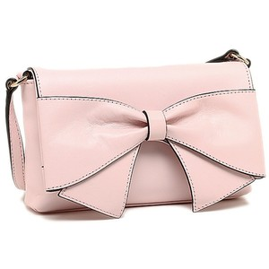 Kate Spade Crossbody Leather Bow Ballet Light Pink Messenger Bag