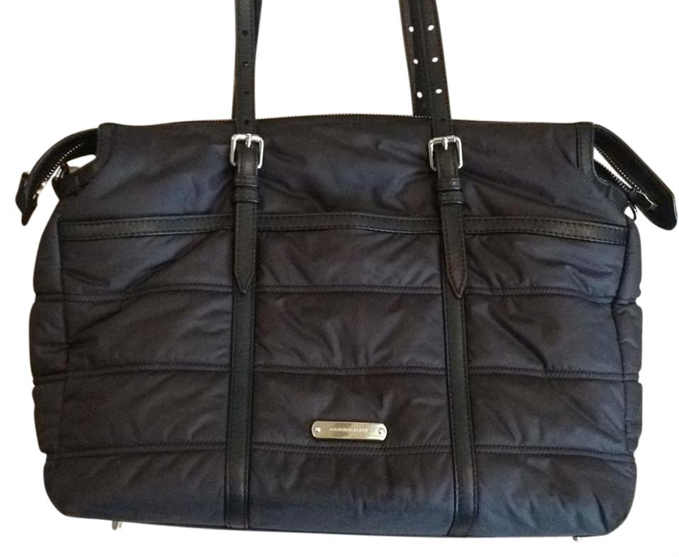 Burberry Abbey Quilted Tote Black Nylon Diaper Bag 29 Off Retail