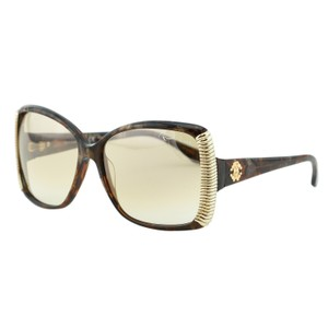 Roberto Cavalli New RC656 50L Alloro Brown Amber Gold Oversized Butterfly Sunglasses