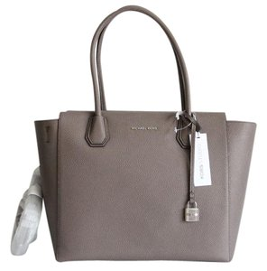ab44445ae944 Michael Kors Mercer Studio Large Cinder Leather Satchel - Tradesy