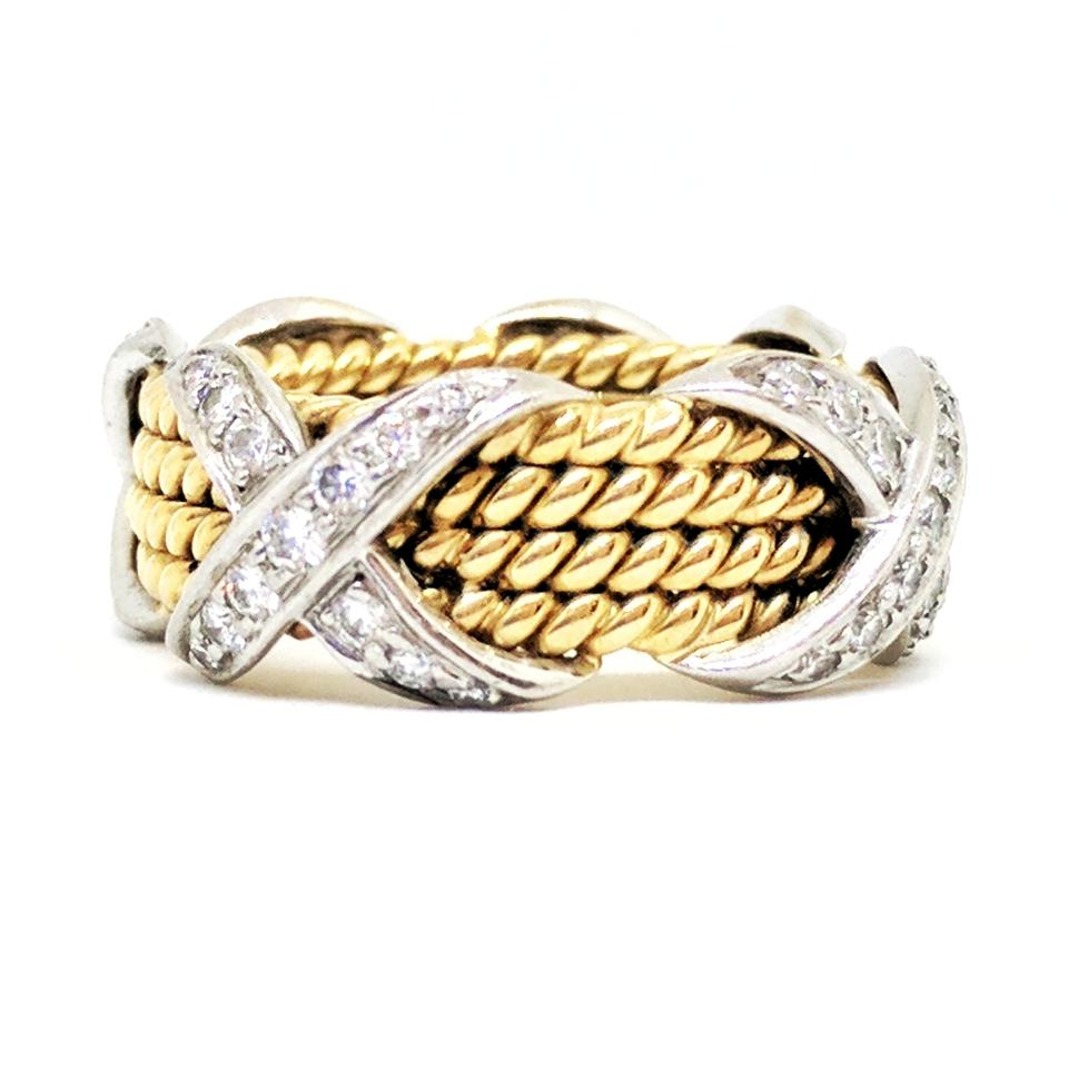 94319a6f600e7 Tiffany & Co. Schlumberger Rope Four-row X Ring 36% off retail