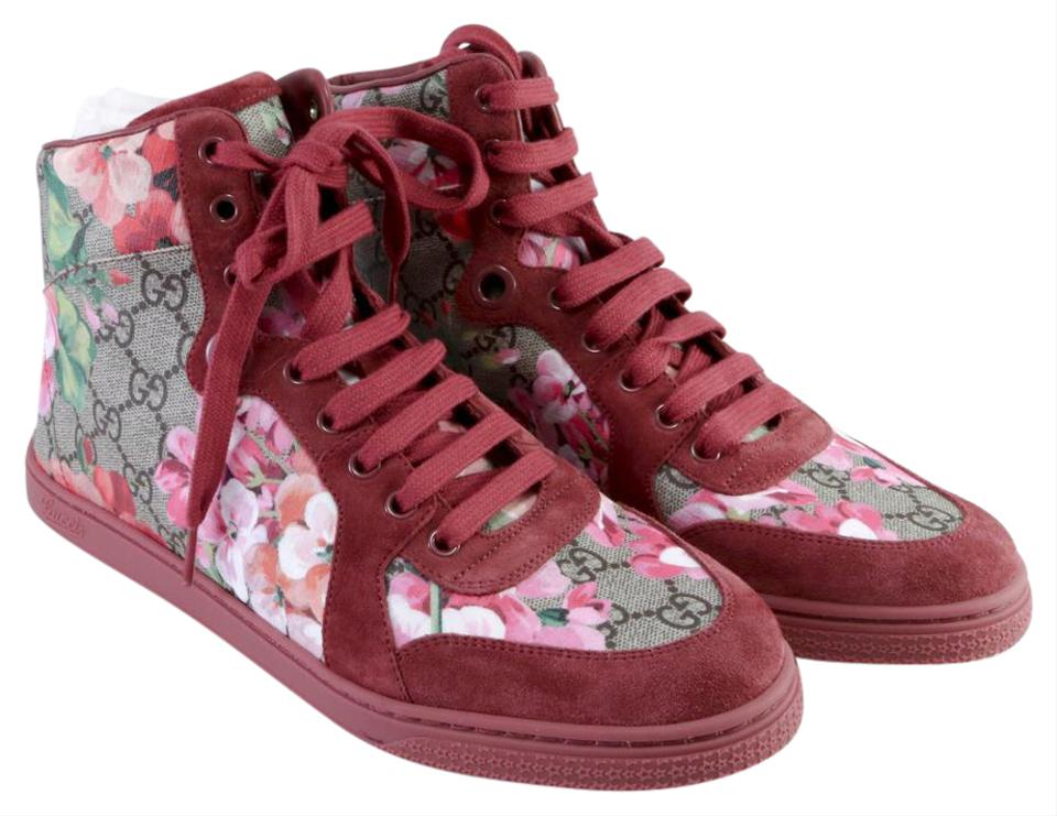 2c81c9c6b Gucci Dry Rose Blooms Flora Printed High Top A155 Sneakers Size EU ...