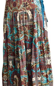 Zara Maxi Skirt Colorful/ flowers prints