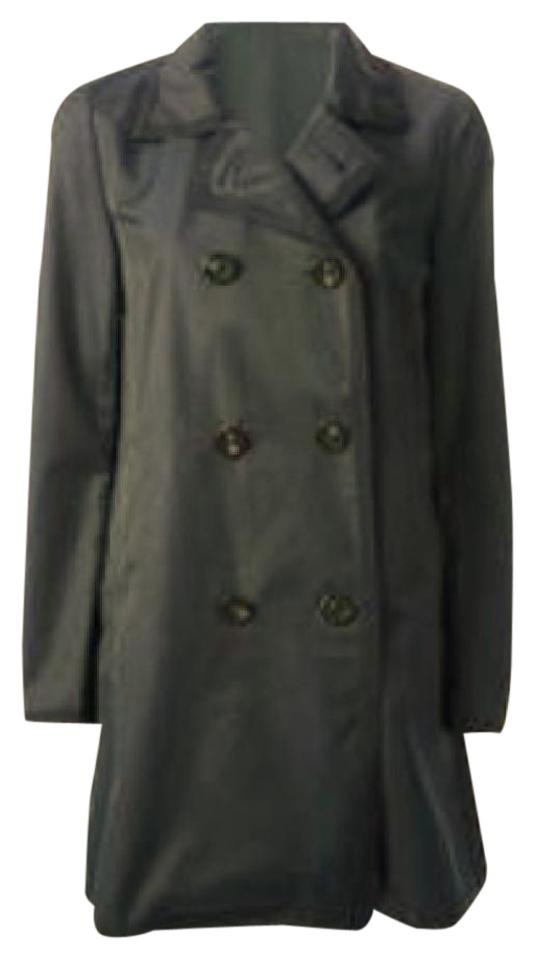 c93ee0956f70 Moncler Navy Citron Trench Coat Size 8 (M) - Tradesy
