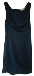 Max Studio short dress Blue & Black Faux Leather on Tradesy