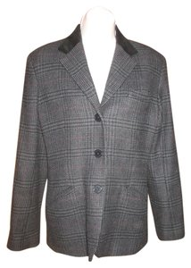 Ralph Lauren Gray Plaid Blazer