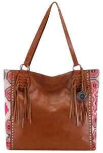 The Sak Leather Hobo Tote in Brown
