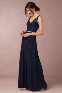 BHLDN Navy Nylon and Lace Fleur Formal Bridesmaid/Mob Dress Size 6 (S)
