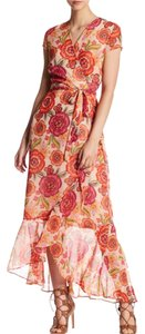 pink orange Maxi Dress by Just Taylor