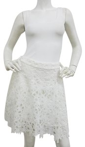 Karina Grimaldi Lace A-line Mini Skirt White