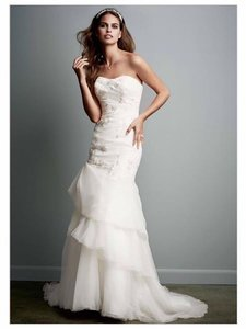 Galina organza trumpet mermaid gown with floral detail wedding galina organza trumpet mermaid gown with floral detail wedding dress junglespirit Images