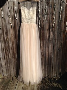 Grace Loves Lace Cream To Hint Of Rose and Tulle Vintage Wedding Dress Size 2 (XS)