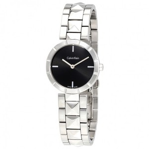 Calvin Klein CK Edge Black Studded Ladies Watch