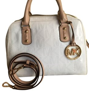 31e0af404b20 Added to Shopping Bag. Michael Kors Satchel in Creme. Michael Kors Mini  Creme Patent Leather Satchel