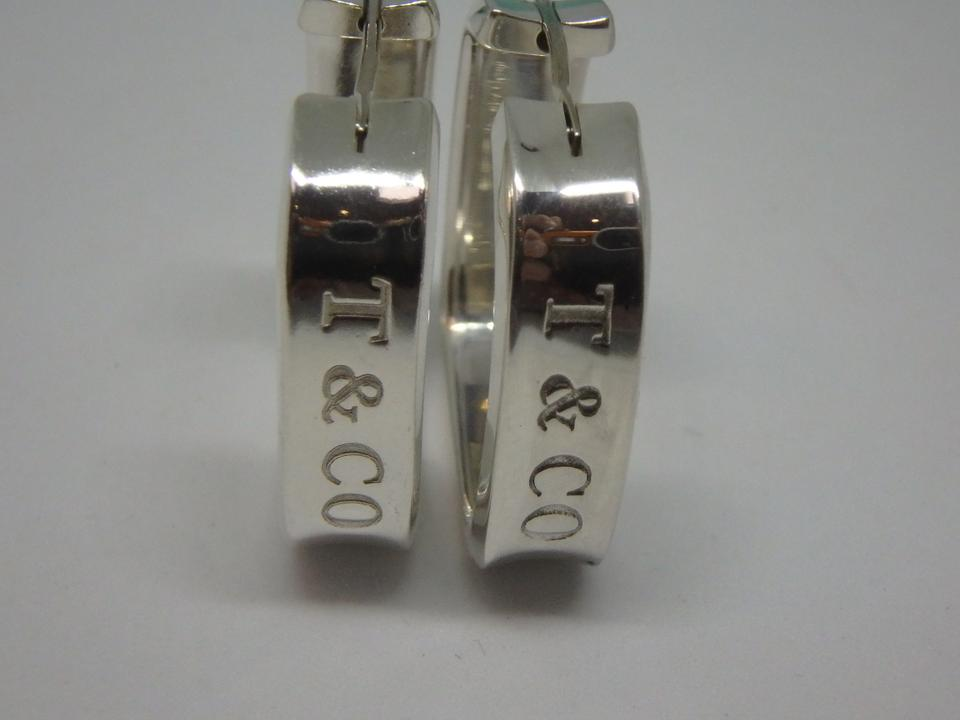 8e8ce7f708548 Tiffany & Co. Silver 1837 Square Hoop Earrings 55% off retail
