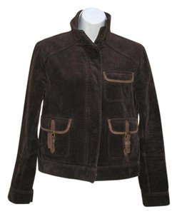 Lauren Jeans Company Corduroy Leather Brown Jacket