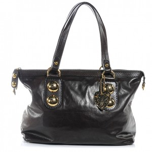 c8c28411d08 Gucci Leather Babouska Hysteria Tote in Brown