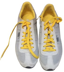 Puma Light Grey, Yellow Athletic