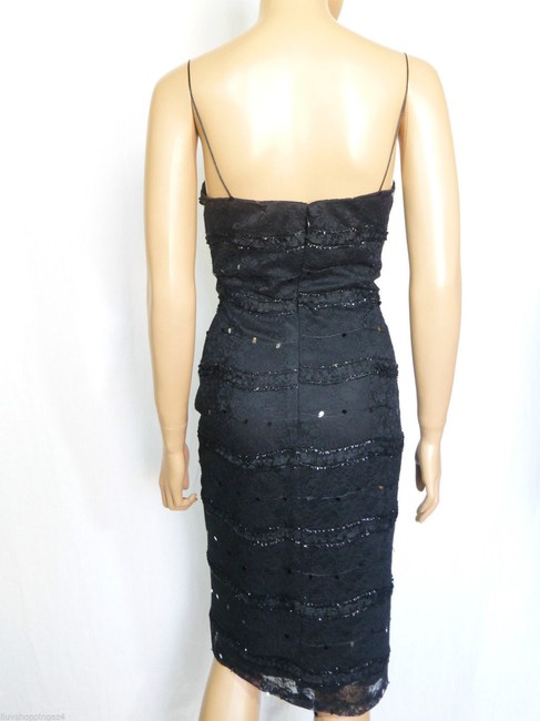 JS Collections Black New Embellished Lace Bolero Short Cocktail Dress Size 4 (S) JS Collections Black New Embellished Lace Bolero Short Cocktail Dress Size 4 (S) Image 7