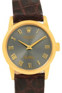 Rolex Rolex Cellini Classic 18k Yellow Gold Slate Dial Ladies Watch 6111