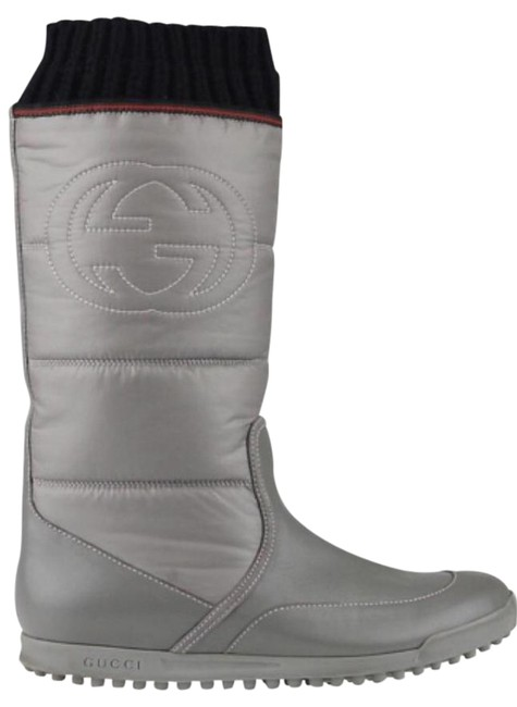 Item - Gray Quilted Nylon Boots/Booties Size US 8 Regular (M, B)
