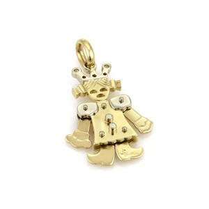 Pomellato Animated Queen 18k Two Tone Gold Charm