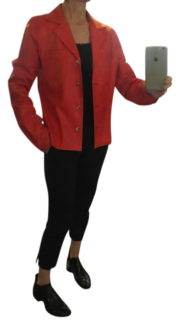 Item - Coral Red Shirt Jacket Size 10 (M)