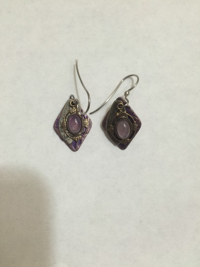 Other Purple stone dangling earrings