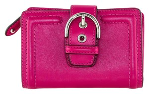 Coach * Coach Pink leather Buckle Wallet